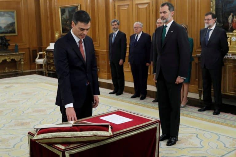 Toma de posesión de Pedro Sánchez como presidente del Gobierno de España