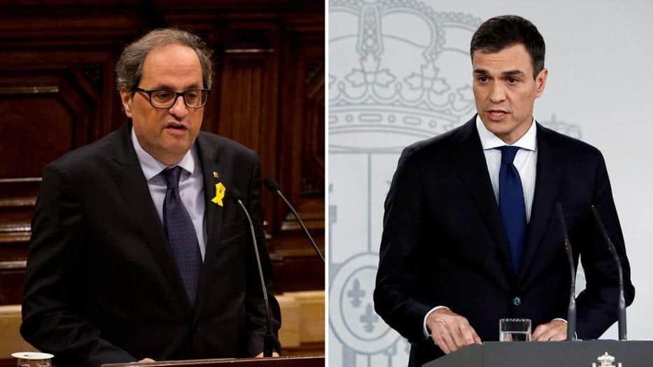 Reunión Sánchez Torra mantiene en alerta a las fuerzas políticas