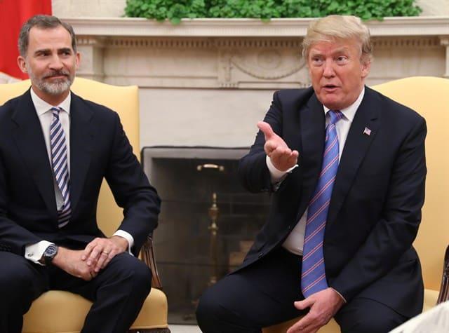 """Trump y los Reyes destacan la """"estrecha relación"""" entre España y EEUU"""