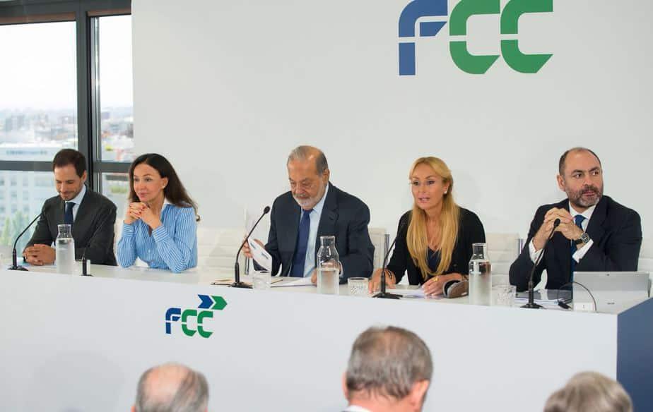 Carlos Slim rueda de prensa FCC resultados 2018