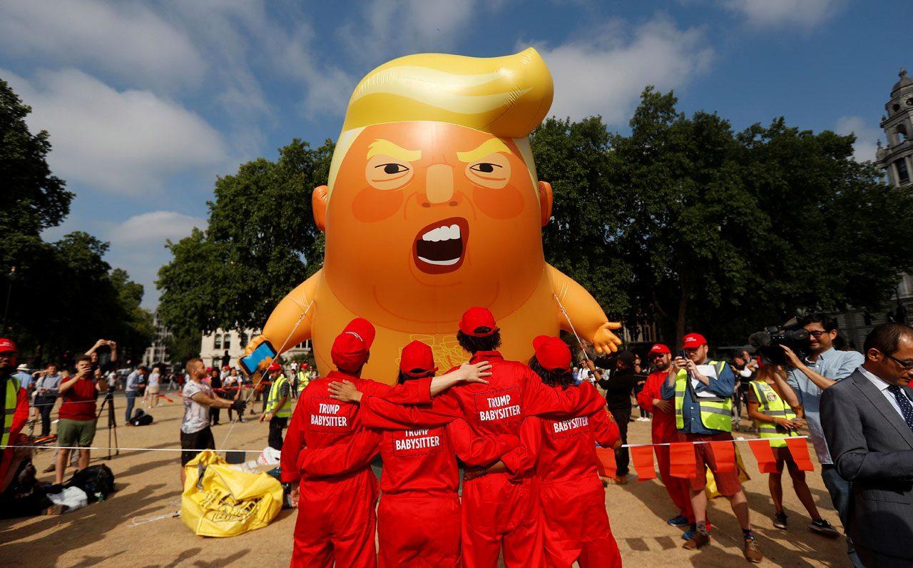 "Globo del ""Bebé Trump"""