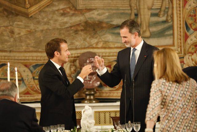 Cena entre el Rey Felipe VI y Emmanuel Macron