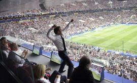 La foto de Macron, el dueño absoluto de las celebraciones del Mundial