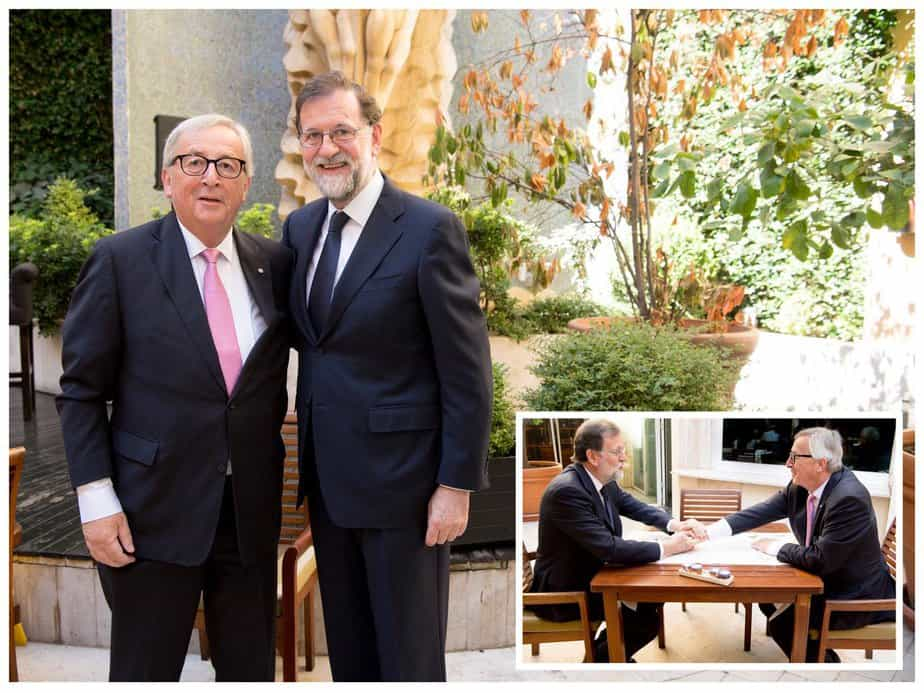 """Rajoy y Junker se encuentran para hablar de """"grandes retos europeos"""""""
