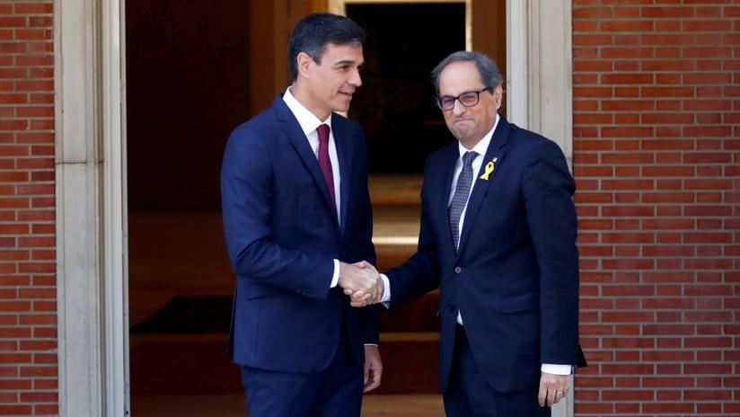 Sánchez y Torra encabezarán minicumbre en el Palacio de Pedralbes, donde se prevé discutan temas de profundo contenidos políticos/Reuters