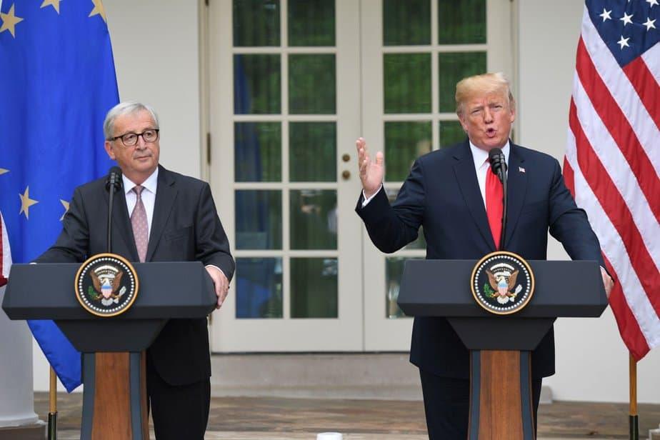 Trump anunció un acuerdo con la UE para evitar la guerra comercial