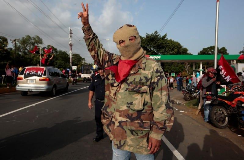 violencia en las calles de Nicaragua