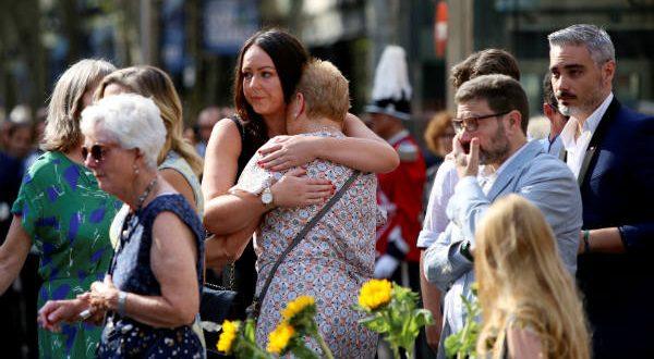 Barcelona ha tributado hoy un emotivo homenaje a las víctimas del 17A