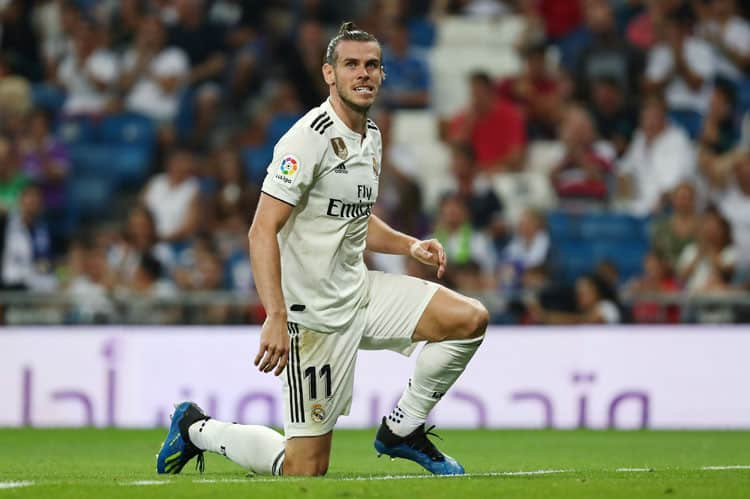 Soccer Football - La Liga Santander - Real Madrid vs Getafe - Santiago Bernabeu, Madrid, Spain - August 19, 2018   Real Madrid's Gareth Bale reacts during the match   REUTERS/Sergio Perez