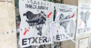 PP de Bizkaia denuncia que Portugalete está empapelada con carteles en apoyo a la ETA