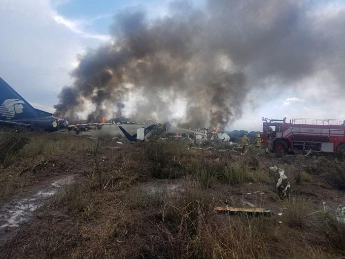 Avión que se estrelló en México no dejó víctimas fatales