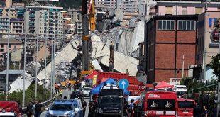 Un incendio bajo los escombros de la autopista colapsada en Génova interrumpió las operaciones de rescate que se realizaban por cuarto día consecutivo.