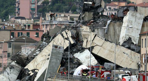 derrumbe de puente en génova