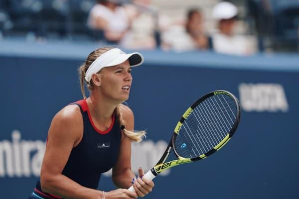 Caroline Wozniacki en su debut en el US Open 2018
