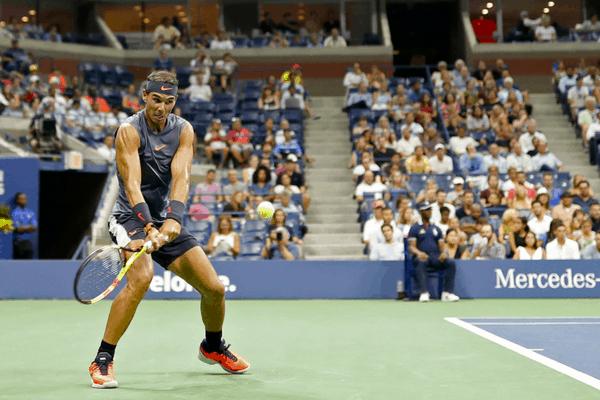 Rafael Nadal en el Arthur Ashe Stadium durante el US Open 2018