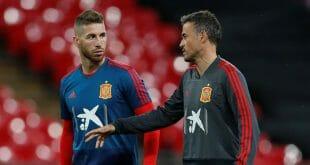 Luis Enrique y Sergio Ramos