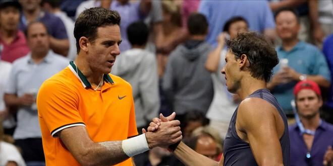 Juan Martín Del Potro acabó con la racha de tres victorias Rafael Nadal sobre el argentino REUTERS