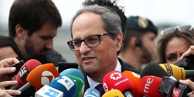 El presidente de la Generalitat de Cataluña, Quim Torra, en una foto tomada el 21 de mayo de 2018. REUTERS/Sergio Perez