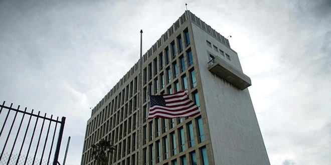 Imagen archivo de la embajada de EEUU en La Habana, Cuba. 5 de octubre de 2017. Reuters / Alexandre Meneghini