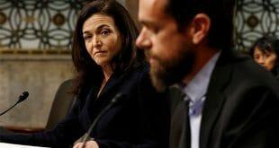 El tema de las redes sociales llegó este miércoles al congreso de EEUU, donde fueron interpelados la directora de operaciones de Facebook, Sheryl Sandberg, y el presidente ejecutivo de Twitter, Jack Dorsey/Reuters