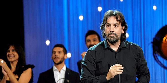 Isaki Lacuesta tras recibir la Concha de Oro a la mejor película por Entre Dos Aguas en el Festival de San Sebastián el 29 de septiembre de 2018. REUTERS/Vincent West