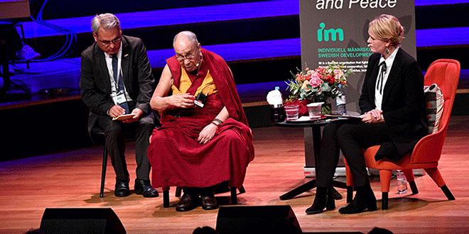 El líder espiritual tibetano Dalai Lama visita Suecia. September 12, 2018. TT News Agency/Johan Nilsson via REUTERS