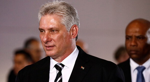 El presidente de Cuba, Miguel Díaz-Canel, arribó este domingo a NY/Reuters
