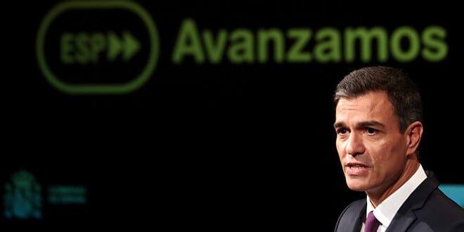 El presidente del Gobierno de España, Pedro Sánchez, valora en un discurso los primeros 100 días en el ejecutivo, Madrid, España, 17 de septiembre de 2018. REUTERS/Sergio Perez