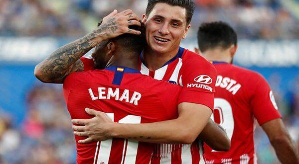 El Atlético obtuvo un triunfo valioso ante el Getafe, con un par de acciones de Thomas Lemar
