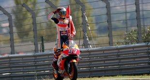 El español Marc Márquez gana el Gran Premio de Aragón. Dovizioso e Ioannone completaron el podio