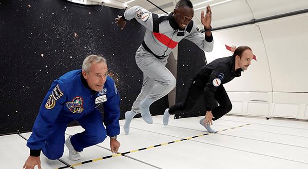 La leyenda del atletismo Usain Bolt regresó para desafiar la gravedad / REUTERS