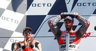 Andrea Dovizioso triunfó en el Gran Premio de San Marino, obteniendo su tercera victoria de la temporada
