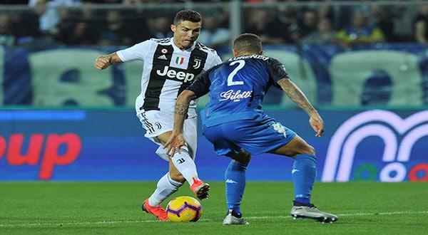Cristiano salvó a la Juventus con un doblete en Empoli este sábado, con un golazo desde 20 metros incluido, para liderar la remontada y permitir al equipo turinés afianzar su liderato