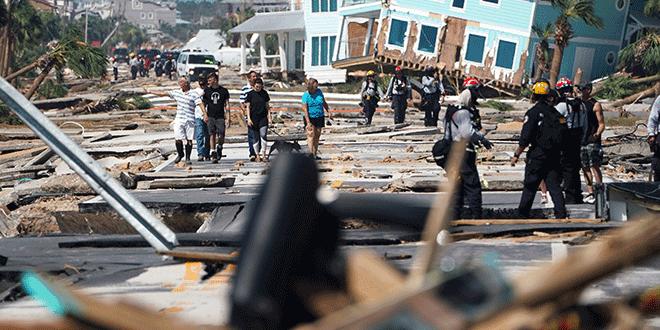 Asciende el número de fallecidos por el paso del huracán Michael