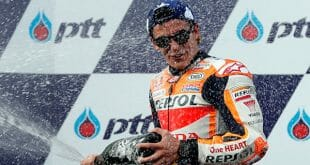 El campeón Marc Márquez triunfó en el MotoGP de Tailandia.