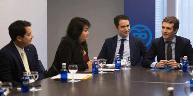 """Pablo Casado: """"Sánchez no debe aceptar la posición de Zapatero sobre Venezuela"""""""
