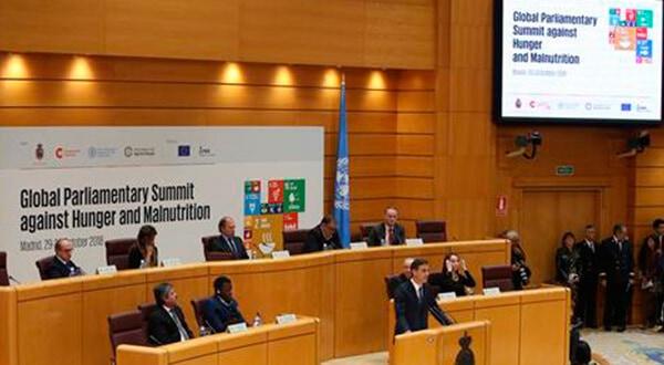"""El jefe de gobierno español, Pedro Sánchez, destacó que frente al hambre y la desnutrición, la Cumbre representa """"una oportunidad para afrontar este auténtico desafío planetario desde un enfoque multilateral""""/Cortesía"""