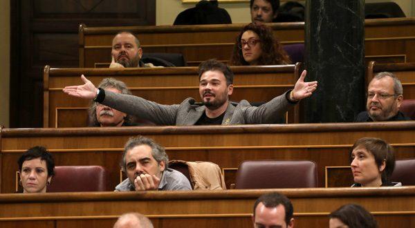 Rufián: ERC no bloqueará la investidura de Pedro Sánchez