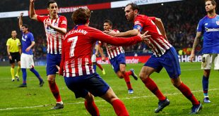 Remontada épica del Atlético con Godín lesionado.El triunfo fue de 3-2 como local frente al Athletic Bilbao/Reuters