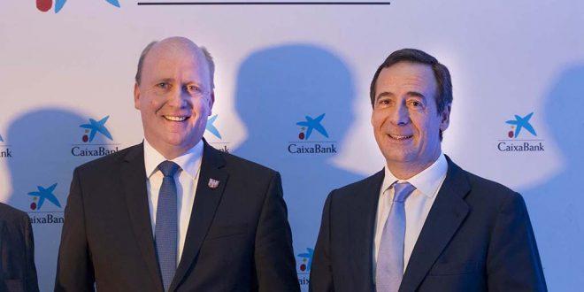 CaixaBank inaugura sus nuevas oficinas en la localidad alemana de Fráncfort.