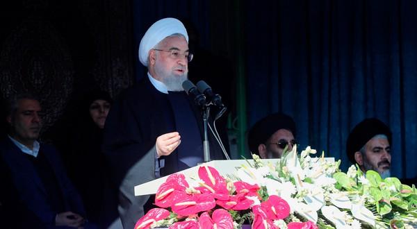 En la imagen, el presidente iraní, Hassan Rouhani, dando un discurso en la ciudad de Khoy, Irán, 19 de noviembre de 2018. Official President website/Handout via REUTERS