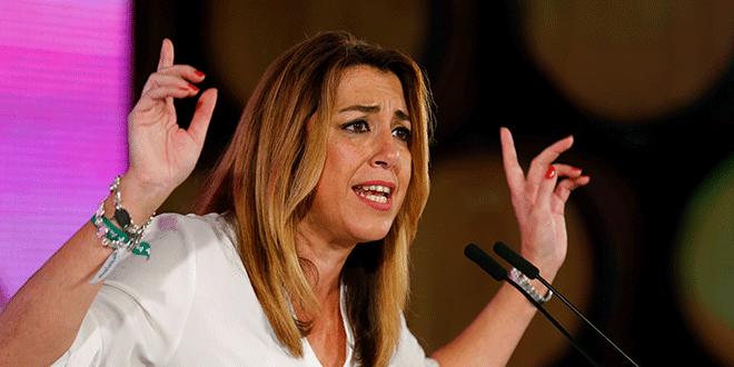 La presidenta de Andalucía, Susana Díaz, durante un acto de campaña en Chiclana de la Frontera, el 18 de noviembre de 2018. REUTERS/Marcelo del Pozo