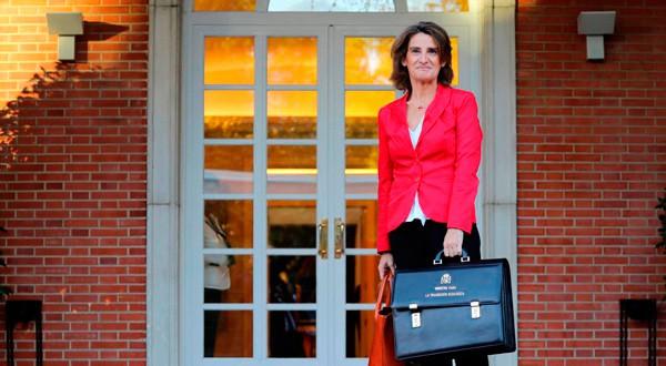 Teresa Ribera, ministra para la Transición Ecológica de España, en La Moncloa. REUTERS