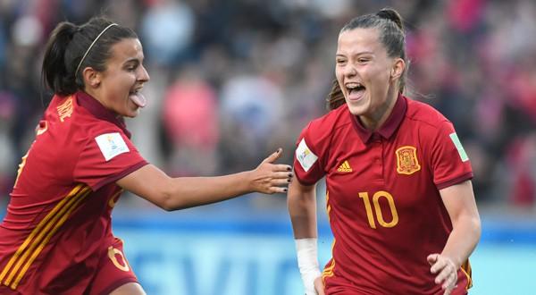 Claudia Pina celebra su primer gol en la final del Mundial Sub-17 femenino (REUTERS)
