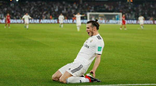 Gareth Bale celebra su tercer gol ante el Kashima Antlers (REUTERS)