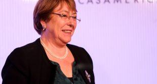 """Michelle Bachelet: """"Frente a los desafíos globales, no hay respuestas individuales"""""""
