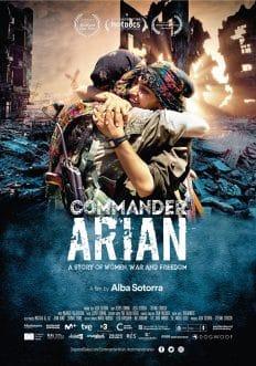 Cartel oficial del film 'Comandante Arian', De Alba Sotorra.