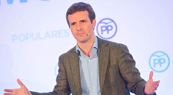 Pablo Casado pidió al Gobierno que aplique la ley de partidos
