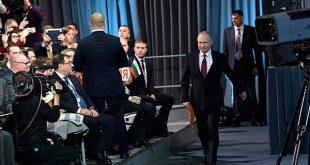 """El presidente de Rusia, Vladimir Putin, afirmó que el socialismo """"siempre"""" lleva a la economía a """"un callejón sin salida""""/Kremlin.ru"""