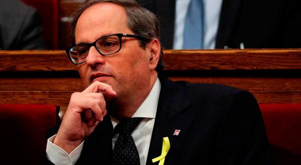 Quim Torra, presidente de la Generalitat de Cataluña, quiere regular las actuaciones de los Mossos d'Esquadra. REUTERS